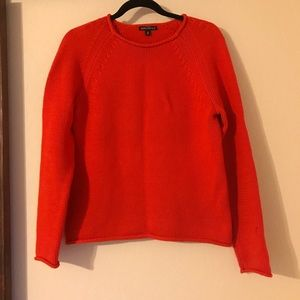 Red J.Crew scoop neck sz.M